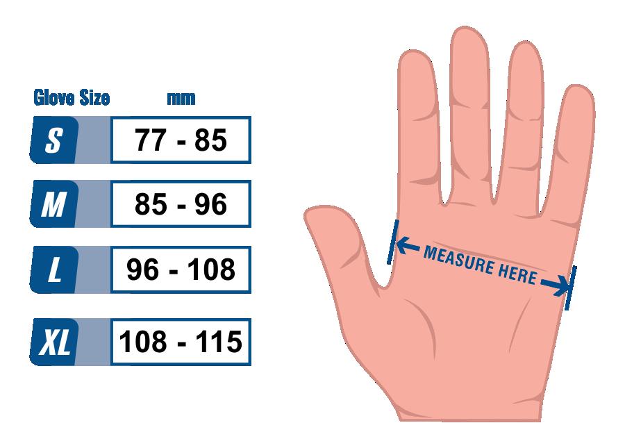 Nitrile Glove Size Guide