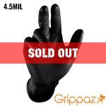 Grippaz Black Nitrile Gloves – 4.5MIL – 50 Per Box