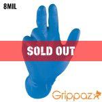Grippaz Blue Nitrile Gloves – 8MIL – 48 Per Bag