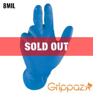 Grippaz Blue Nitrile Gloves - 8MIL - 48 Per Bag