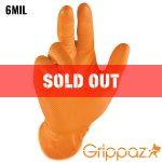 Grippaz Orange Nitrile Gloves - 6MIL - 50 Per Box