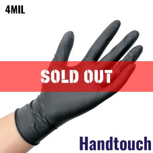 Handtouch Black Nitrile Gloves - 4MIL - 100 Per Box