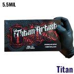 Titan Artist Black Nitrile Gloves – 5.5MIL – 100 Per Box