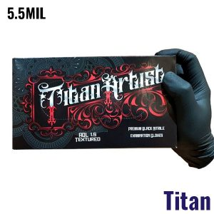 Titan Artist Black Nitrile Gloves - 5.5MIL - 100 Per Box