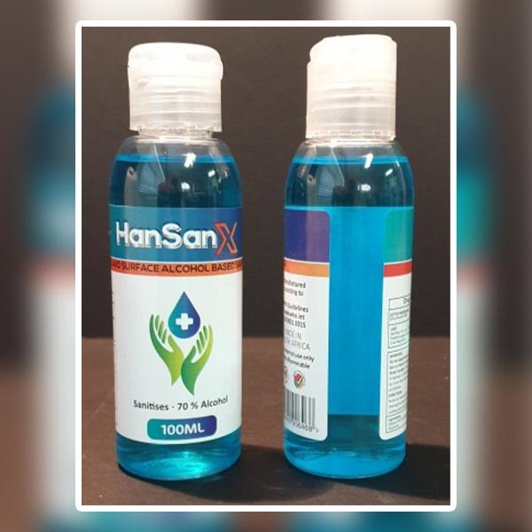 100ml Hand / Surface Alcohol Based Sanitiser