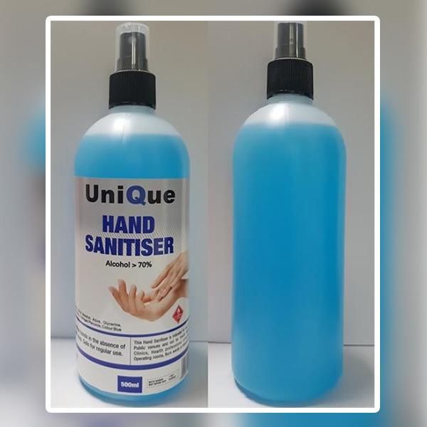 500ml Hand / Surface Alcohol Sanitiser Spray Bottle